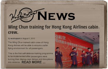 Wing Chun training for Hong Kong Airlines cabin crew