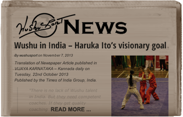 Wushu in India - Harika Ito's visionary goal