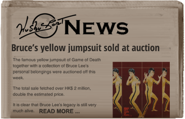 Bruce Lees jumpsuit auctioned off wushu sport news